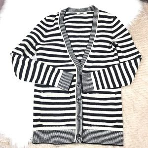 Madewell Coffeeshop Striped Cardigan Sweater
